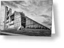 Halifax Explosion Memorial Bell Tower Bw Greeting Card