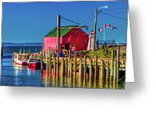 Halls Harbour Nova Scotia Greeting Card