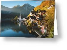 Hallstatt First Light Greeting Card