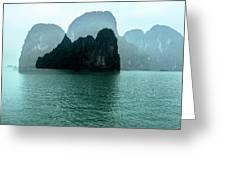 Halong Bay Mountains, Vietnam Greeting Card