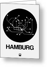 Hamburg Black Subway Map Greeting Card
