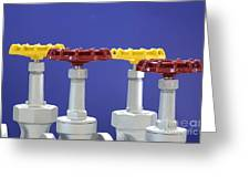 Hand Wheels For Industrial Valves Greeting Card