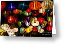 Handcrafted Lanterns In Ancient Town Greeting Card