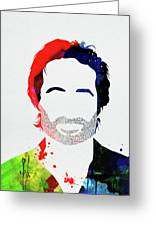 Hank Moody Watercolor Greeting Card