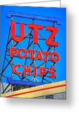 Hanover Pa Skyline - Utz Potato Chips No. 1 - Carlisle Street Greeting Card