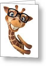 Happy Giraffe Greeting Card