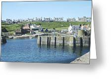 harbour at St. Abbs, Berwickshire Greeting Card