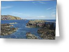 harbour entrance at St. Abbs, Berwickshire Greeting Card