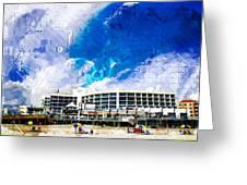 Hard Rock Beach Abstract Greeting Card
