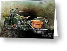 Harley Davidson 1942 Experimental Army Greeting Card