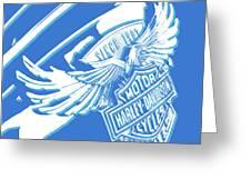 Harley Davidson Tank Logo Abstract Artwork Greeting Card