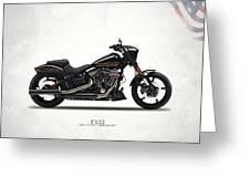 Harley Fxse Greeting Card