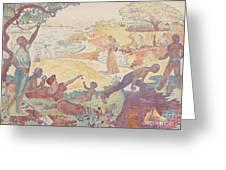 Harmonious Times By Signac Greeting Card