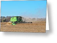 Harvesting Soybeans Greeting Card