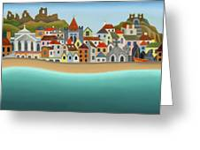 Hastings From The Sea Greeting Card