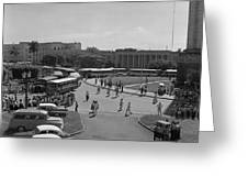 Havana Bus Park Greeting Card