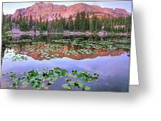 Hayden Peak And Butterfly Lake, Uinta Greeting Card
