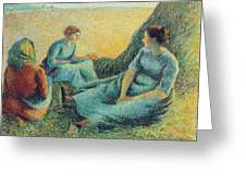Haymakers Resting, 1891 Greeting Card