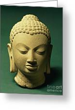 Head Of The Buddha, Sarnath Greeting Card