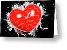 Heart Art Greeting Card