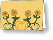 Hearts Bronze Greeting Card
