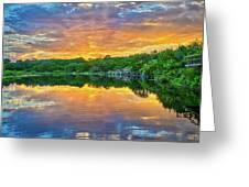 Heavenly Reflections In The Hill Country Greeting Card