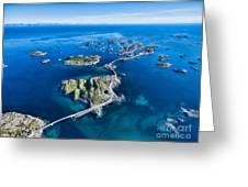 Henningsvaer, Fishing Port On Lofoten Greeting Card