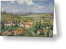 Hermitage In Summer, Pontoise, 1877 Greeting Card
