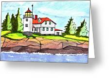Heron Neck Lighthouse- Maine Greeting Card