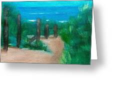 Hidden Beach Greeting Card