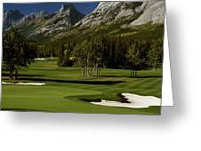 High Angle View Of A Golf Course, Mt Greeting Card