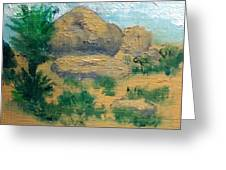High Desert Rock Garden Greeting Card
