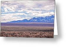 High Plains And Majestic Mountains Greeting Card