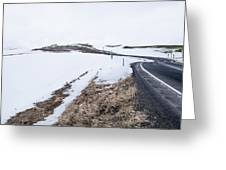 Highway Snow Greeting Card