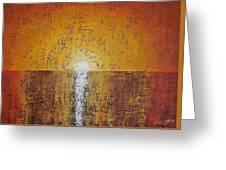 Hilton Head Sunrise Original Painting Greeting Card