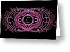 Hippie Lace - Peace, Love, Happiness Greeting Card