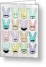 Hipster Bunnies Greeting Card