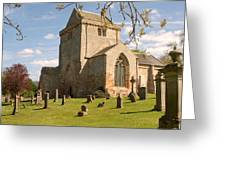 historic Crichton Church and graveyard in Scotland Greeting Card
