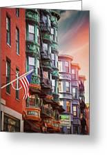 Historic North End Boston Massachusetts Greeting Card