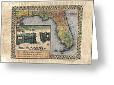 Historical Map Hand Painted St. Augustine Greeting Card