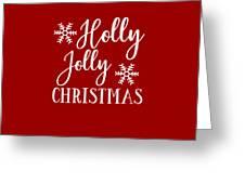 Holly Jolly Christmas Greeting Card