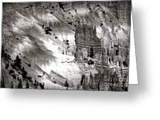 Hoodoo's Black White Utah  Greeting Card