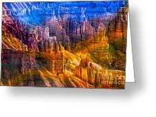 Hoodoo's Rainbow Color Mix Bryce Canyon  Greeting Card