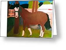 Horse On A Ranch Greeting Card