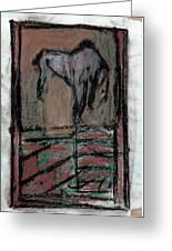 Horse Stables Greeting Card