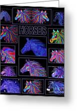 Horses Poster Greeting Card