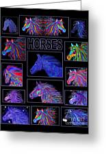 Horses Poster Greeting Card