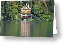 House On The Lake Greeting Card by Davor Zerjav