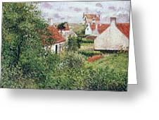 Houses At Knocke, Belgium, 1894 Greeting Card