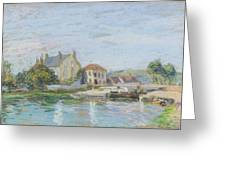 Houses On The Bank Of Ecluse At The Gazonne Greeting Card